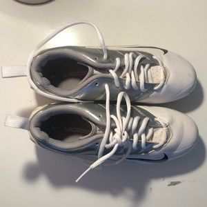 Nike Lacrosse Cleats White and Grey Size 7